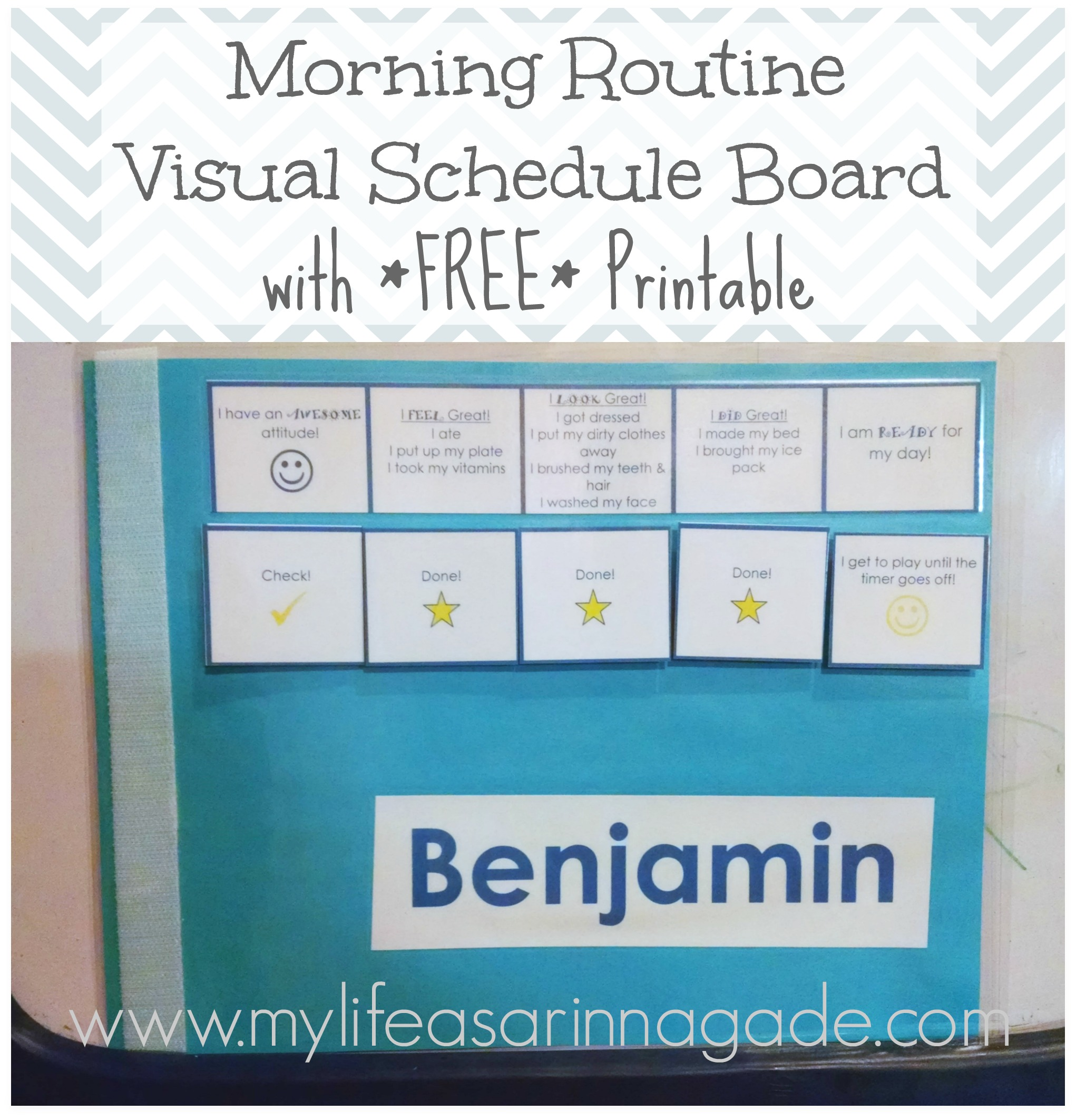 Morning Routine Visual Schedule Board With FREE Printable